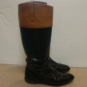 J Crew Leather Boots Size 10